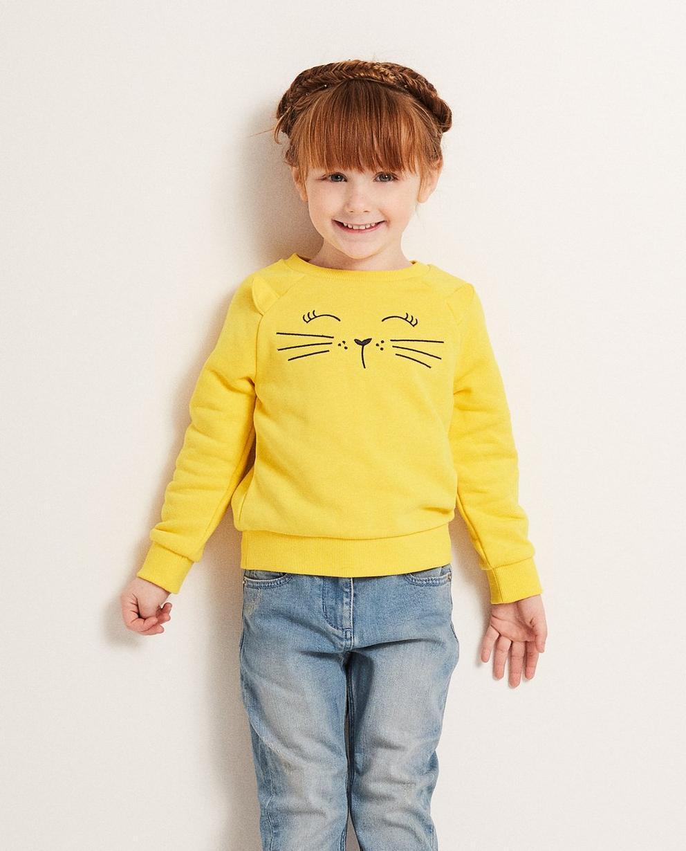 Sweater - Honig - Sweatshirt mit Katzenprint